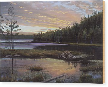 Round Pond Wood Print by Art Chartow