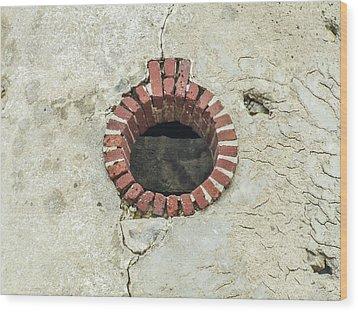 Round Window Wood Print by Helen Northcott