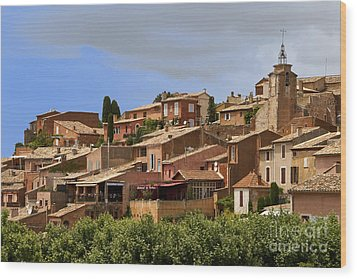 Rousillon Wood Print by Stan and Anne Foster