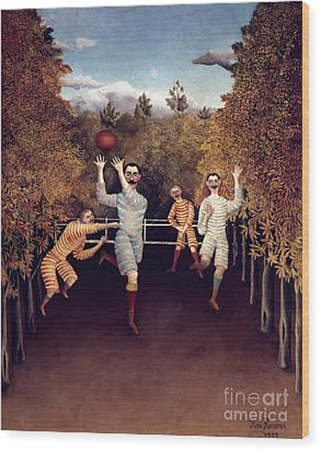 Rousseau: Football, 1908 Wood Print by Granger