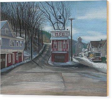 Route 6 Meshoppen Pa Wood Print by John Clum