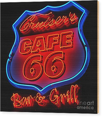 Wood Print featuring the photograph Route 66 by Donna Greene