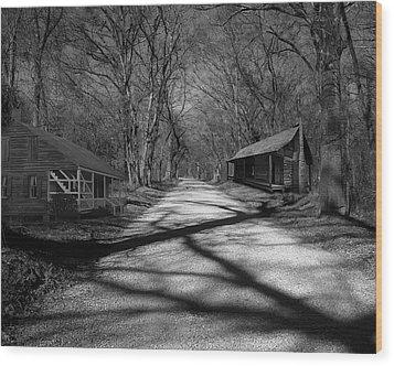 Route De La Louisiane Wood Print