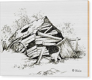 Rover's Find Wood Print