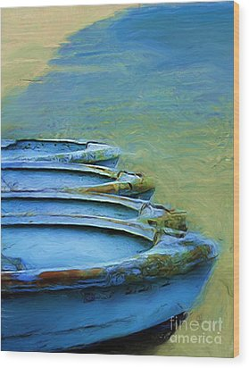 Rowboats Wood Print by Tom Griffithe