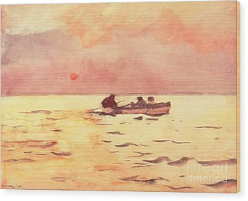 Rowing Home Wood Print by Winslow Homer