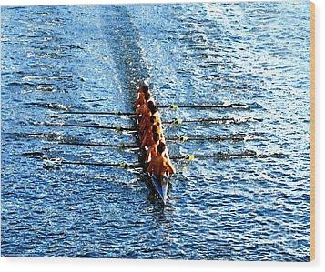 Rowing In Wood Print by David Lee Thompson