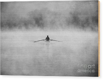 Rowing On The Chattahoochee Wood Print by Darren Fisher