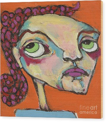 Wood Print featuring the painting Roxie Box by Michelle Spiziri