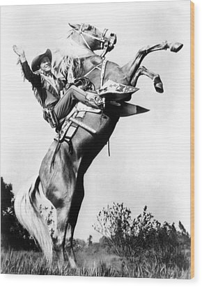 Roy Rogers Riding Trigger, Ca. 1940s Wood Print by Everett