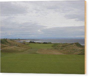 Royal Aberdeen Scotland Golf Wood Print by Jan Daniels