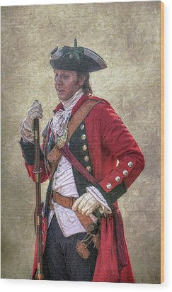 Royal Americans Officer Portrait  Wood Print by Randy Steele