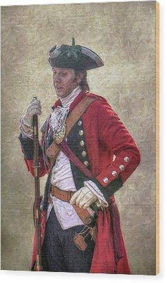Royal Americans Officer Portrait  Wood Print by Randy Steele