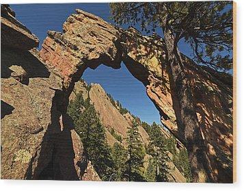 Royal Arch Trail Arch Boulder Colorado Wood Print