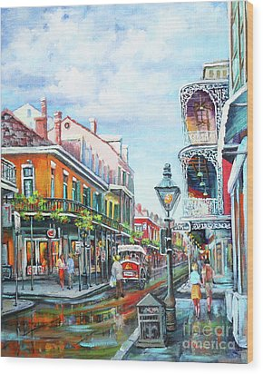 Royal Balconies Wood Print by Dianne Parks