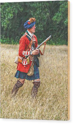Royal Highlanders 77th Regiment Of Foot  Wood Print by Randy Steele
