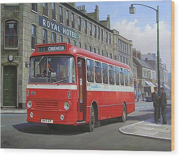 Wood Print featuring the painting Royal Hotel by Mike Jeffries