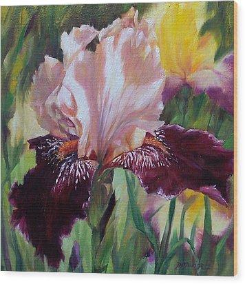 Royal Iris Wood Print by Donna Munsch