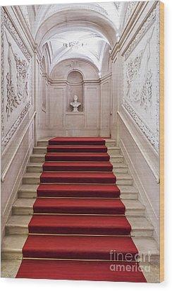 Royal Palace Staircase Wood Print by Jose Elias - Sofia Pereira