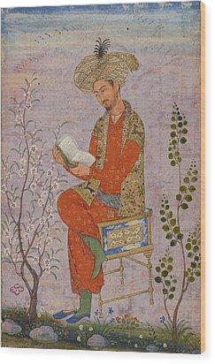 Royal Reader Wood Print by Asok Mukhopadhyay