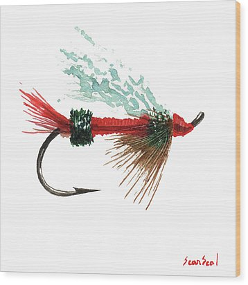 Royal Trude Salmon Fly Wood Print by Sean Seal