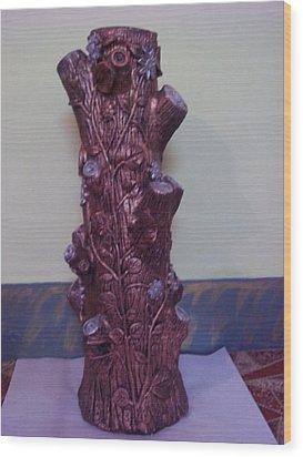 Royale Tree Wood Print by Hakimuddin Pathan