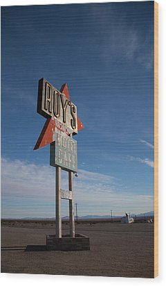 Wood Print featuring the photograph Roys In Amboy by Matthew Bamberg