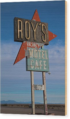 Wood Print featuring the photograph Roy's Motel Cafe by Matthew Bamberg