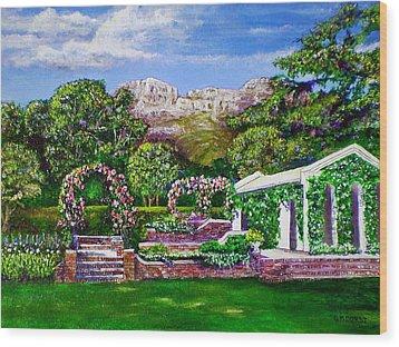 Rozannes Garden Wood Print by Michael Durst