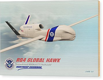 Rq4 Global Hawk Drone United States Wood Print