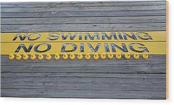 Rubber Duck Swim Team Protest Wood Print
