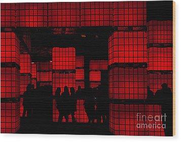 Rubik's Dream Wood Print by Andrew Paranavitana