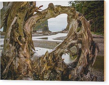 Ruby Beach Driftwood 2007 Wood Print