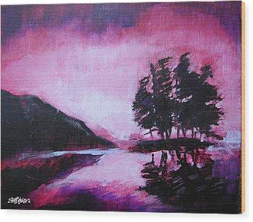 Ruby Dawn Wood Print by Seth Weaver