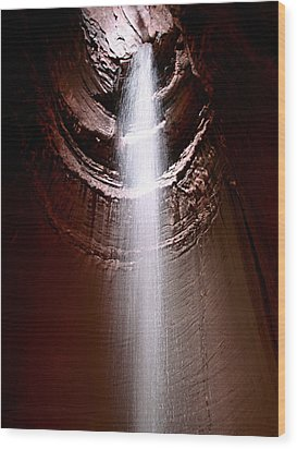 Ruby Falls Wood Print by Debra Forand