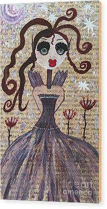 Ruby Wood Print by Julie Engelhardt