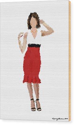 Wood Print featuring the digital art Ruby by Nancy Levan