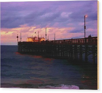 Wood Print featuring the digital art Ruby's At Dawn by Timothy Bulone