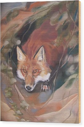 Rudy Adult Wood Print by Marika Evanson