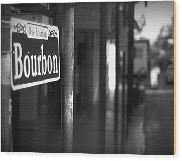 Rue Bourbon Wood Print by John Gusky
