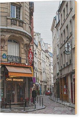 Rue Dante Paris Wood Print