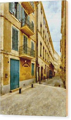 Wood Print featuring the photograph Rue De La Violette by Scott Carruthers