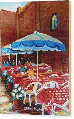 Rue Prince Arthur Wood Print by Carole Spandau