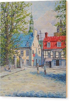 Rue Ste Anne 1965 Wood Print by Richard T Pranke