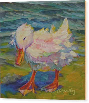 Ruffled Feathers Wood Print by Chris Brandley
