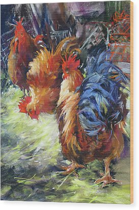Ruffled Feathers Wood Print by Rae Andrews