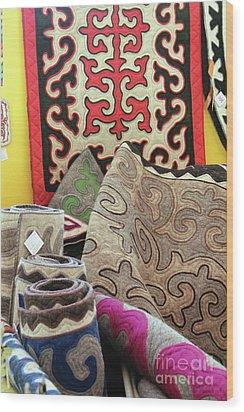 Rug Sale Wood Print by Alycia Christine