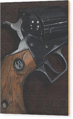 Ruger 44 Magnum Super Blackhawk Revolver Wood Print