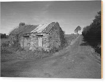 Ruined Irish Cottage Wood Print by John Quinn