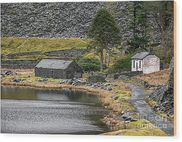Wood Print featuring the photograph Ruins At Cwmorthin by Adrian Evans